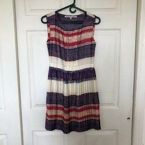 Rachel Roy Pleated Striped Dress